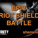 Black Ops 2: Epic Riot Shield Battle [Assault Shield Shenanigans]