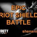 Black Ops 2: Epic Riot Shield Battle [Assault Shield Shenanigans]