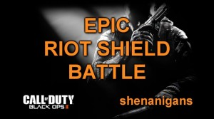 Black Ops 2 - epic riot shield battle