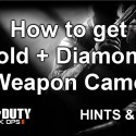 Black Ops 2 tip: unlock gold & diamond SMG camo