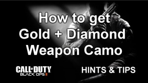 Black Ops 2 gold + diamond weapons