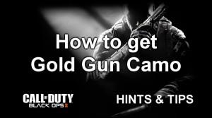 Black Ops 2 tip: how to get gold gun camo
