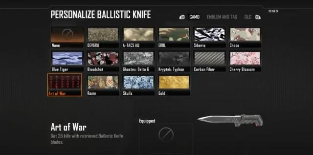 Black Ops 2 - how to unlock the gold ballistic knife