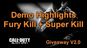 Black Ops 2 medals fury & super killer - demolition gameplay