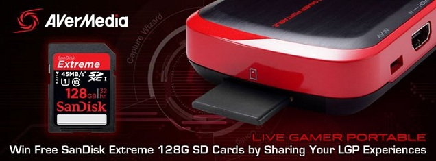 Win a 128GB AVerMedia C875 SD card for PC free mode