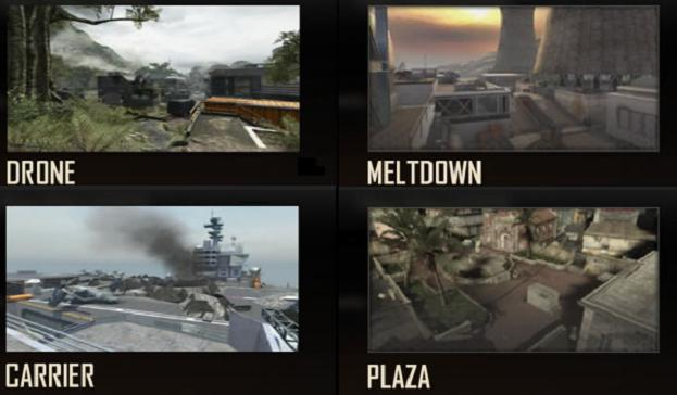 Call of Duty: Black Ops 2 - Drone, Meltdown, Carrier & Plaza multiplayer maps