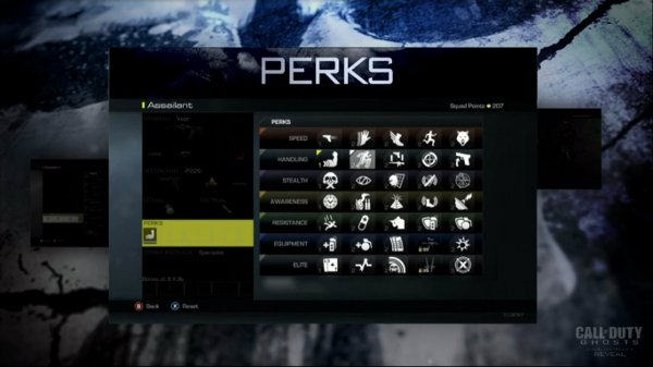 Call of Duty Ghosts - Full Perk List
