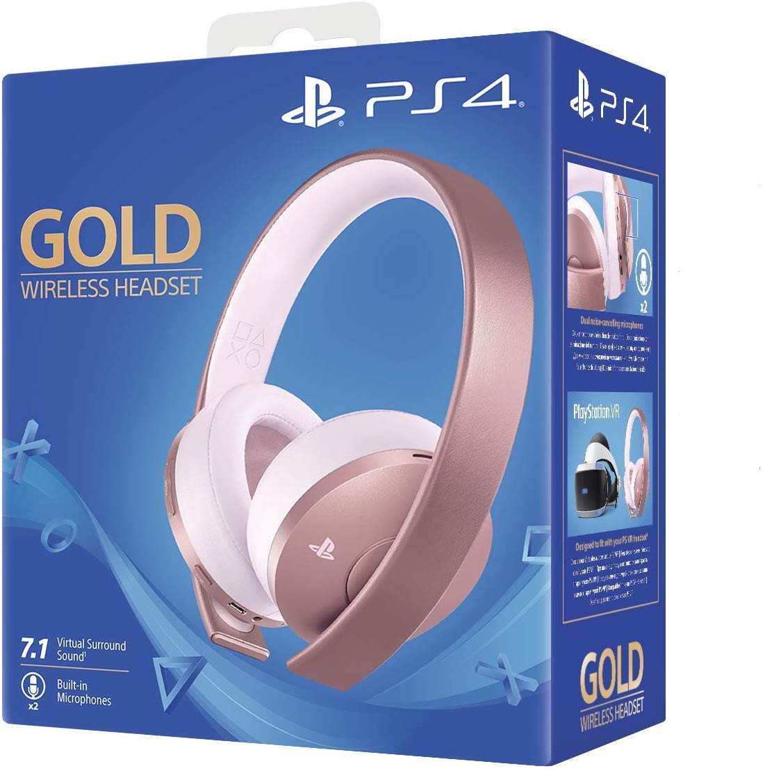 Ps4 Gold Wireless Headset Rose Gold Gaming Headsets Gaming Headsets For Ps4 Xbox Pc Mac