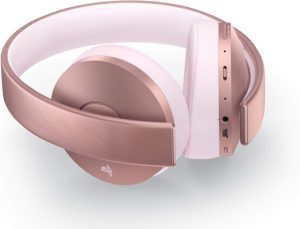 Rose Gold PS4 Gold Wireless Headset