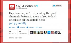 YouTube confirms Paid Channels Feature